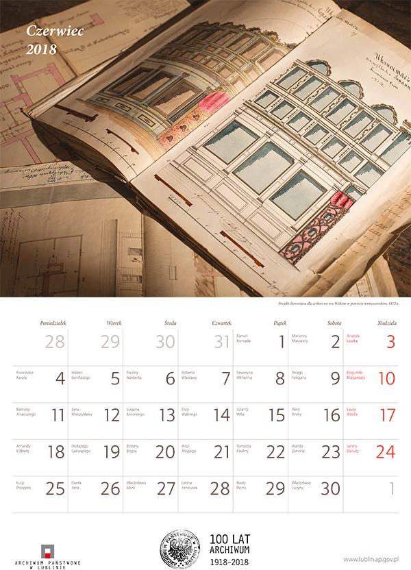 , Kalendarz 2018 – Archiwum Państwowe w Lublinie, Studio Fotograficzne Lublin , Studio Fotograficzne Lublin